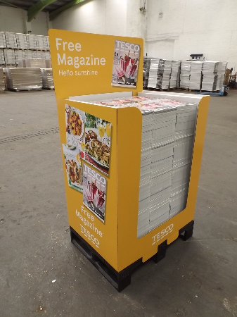 Co-packed Tesco mag