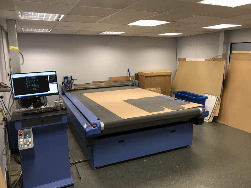 Cutter for cardboard box design samples